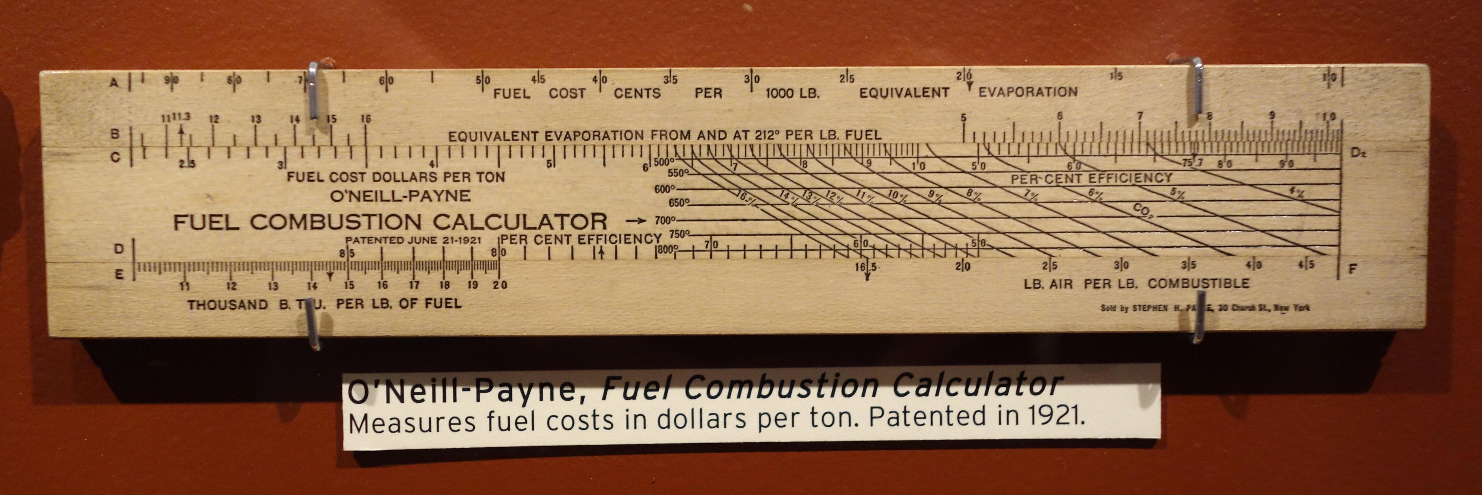 File O Neill Payne Fule bustion Calculator MIT Slide Rule