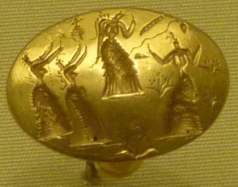 Isopata gold seal ring