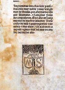 Édition de Séville d'octobre 1491.
