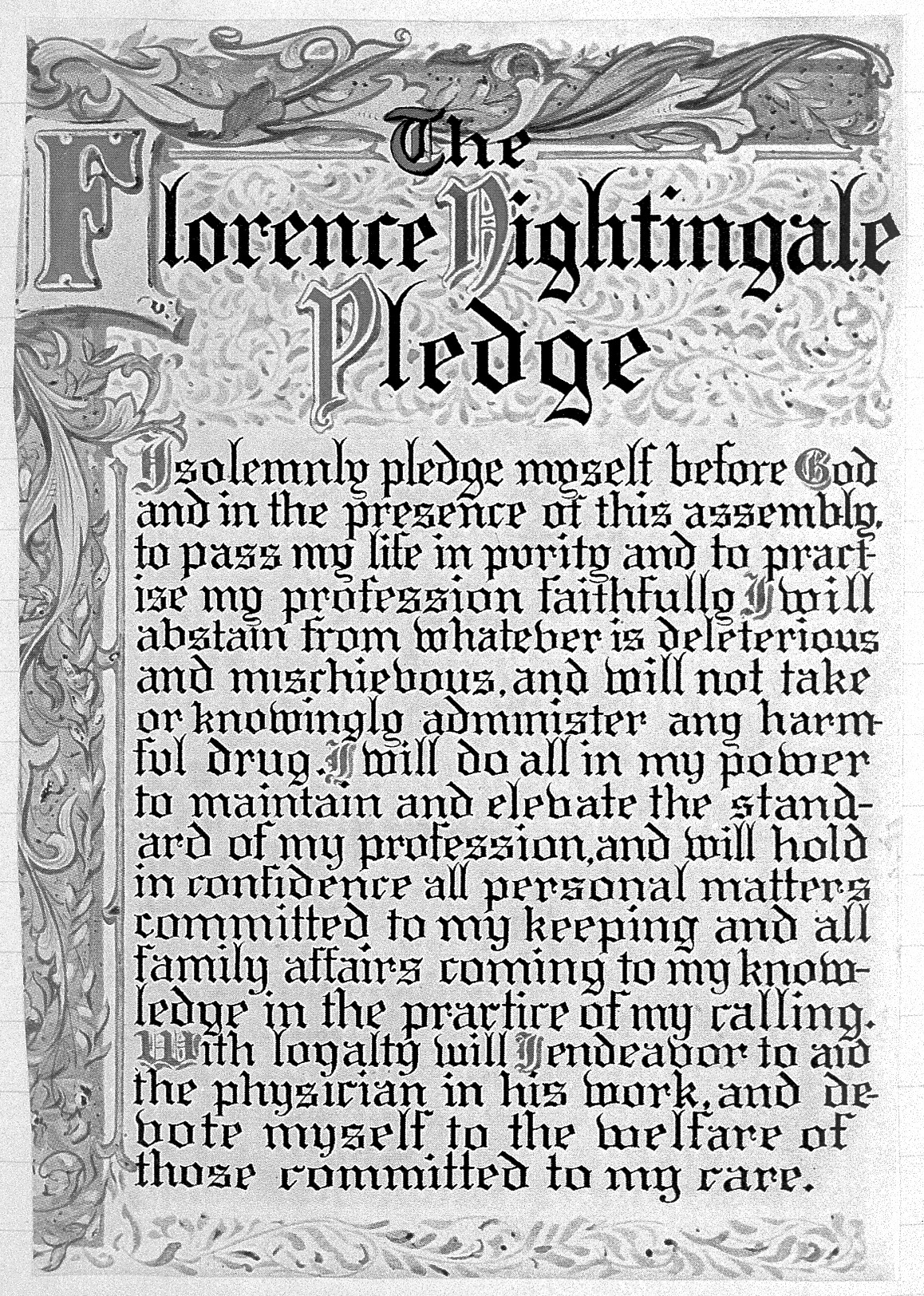 picture relating to Ana Code of Ethics Printable titled Nightingale Pledge - Wikipedia