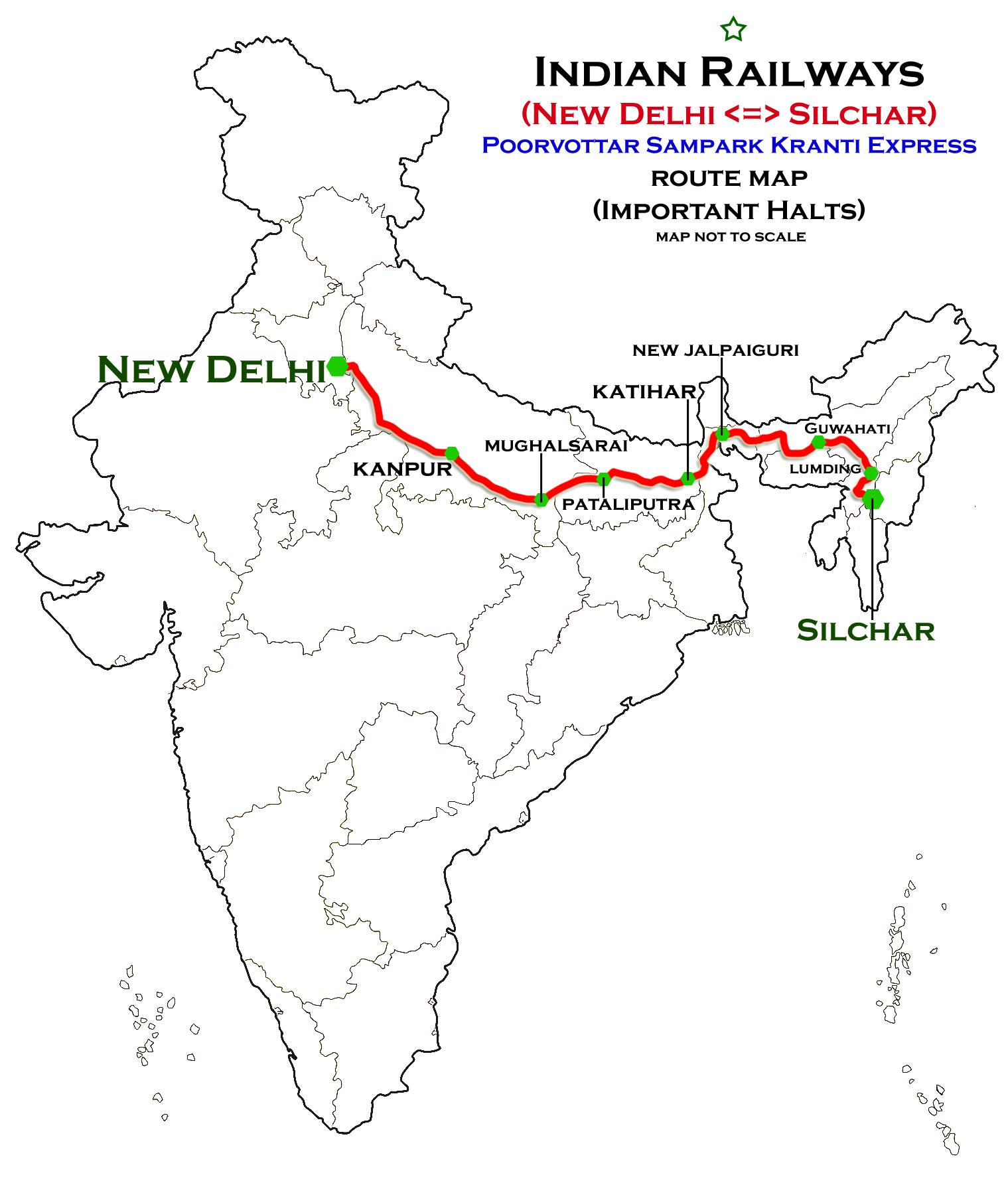 Silchar - New Delhi Poorvottar Sampark Kranti Express