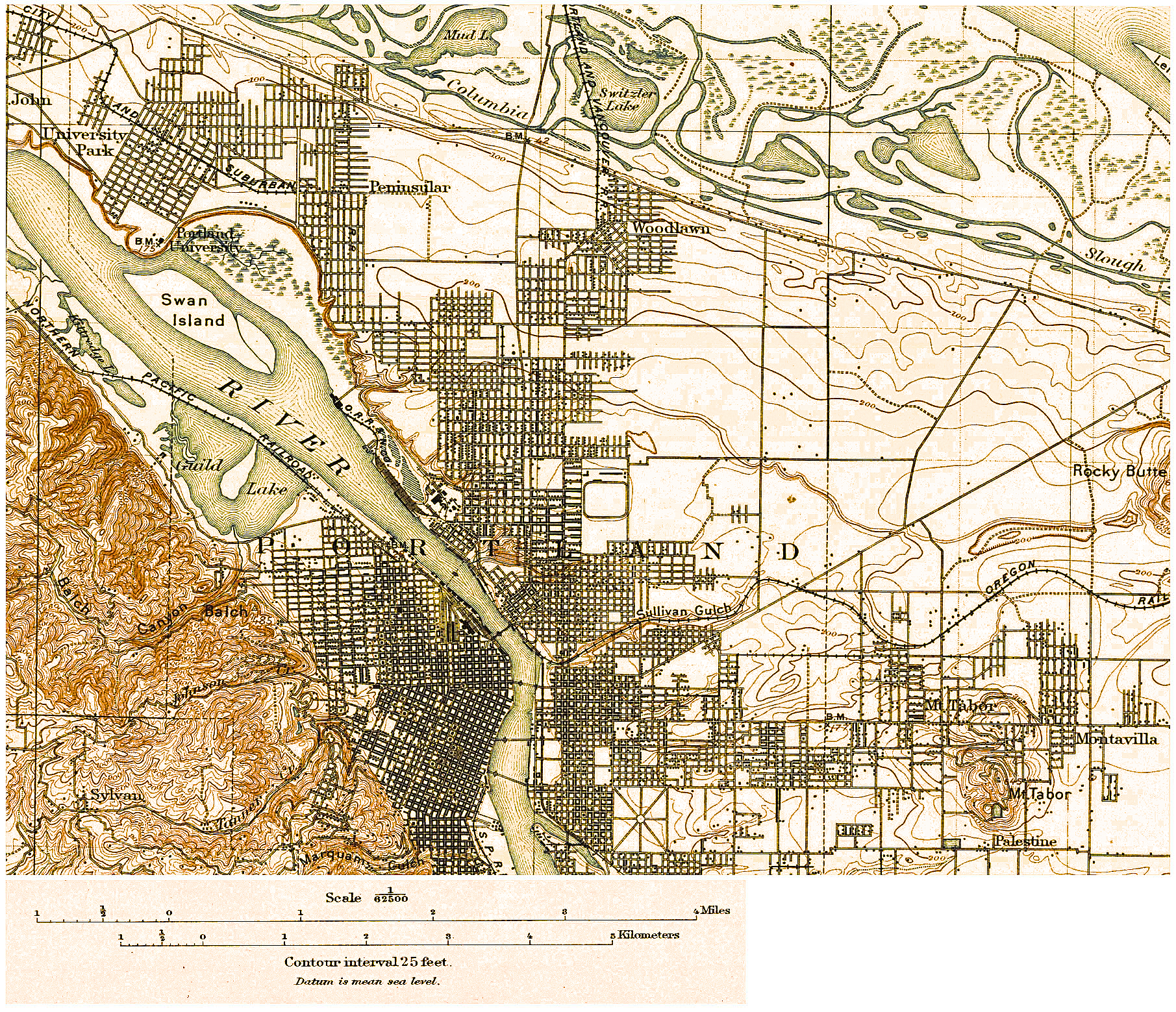 Mark Mcpherson S Geog 321 Portland Oregon Topography