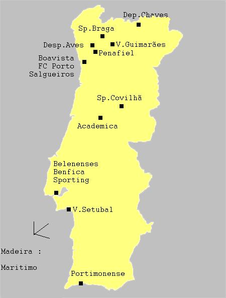 Club Foot Espagne Carte.Championnat Du Portugal De Football 1985 1986 Wikipedia