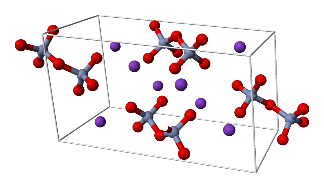 Unit cell of potassium dichromate