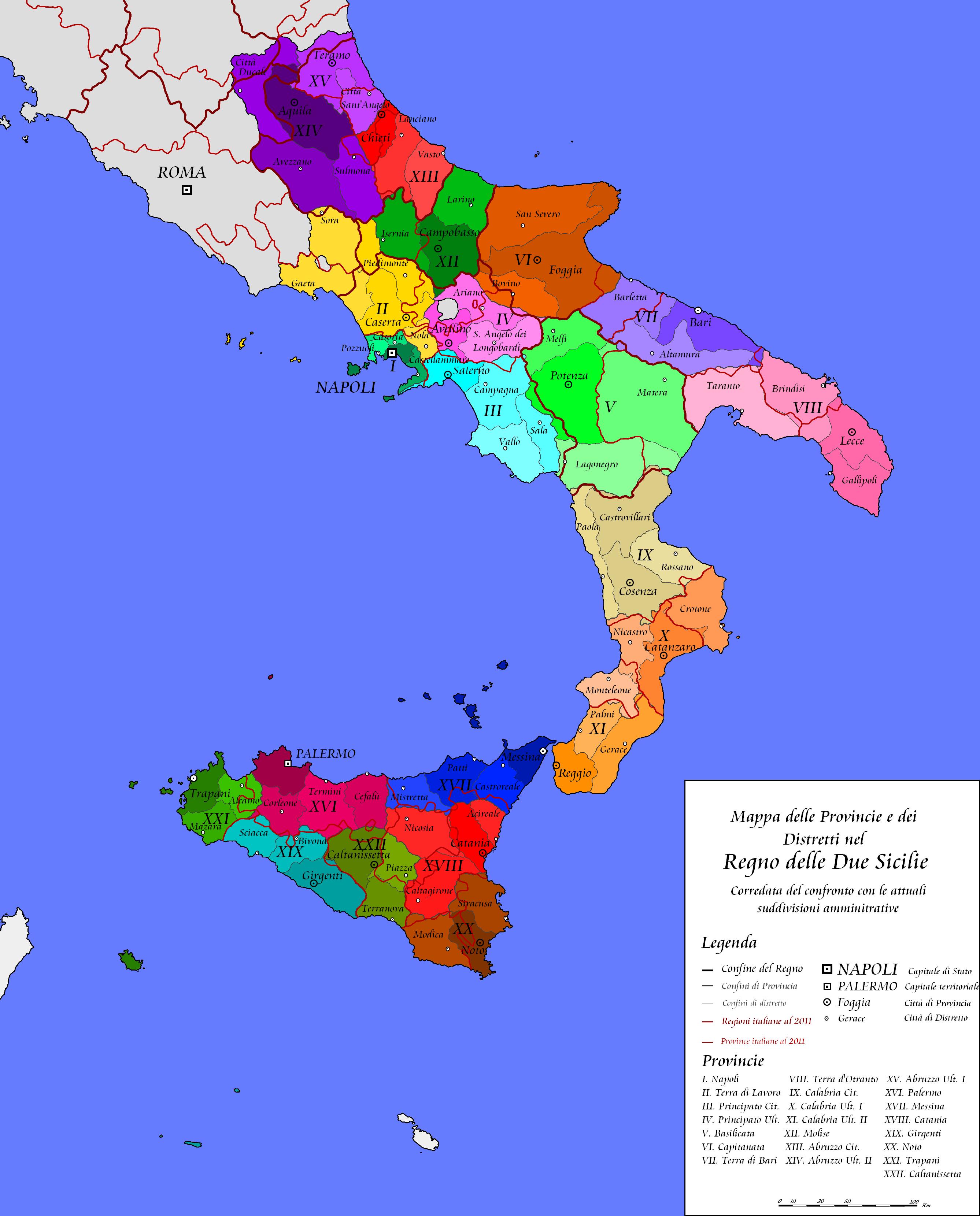 Cartina Italia Muta Con Province.File Provincie Duosiciliane Con Confronto Png Wikimedia Commons