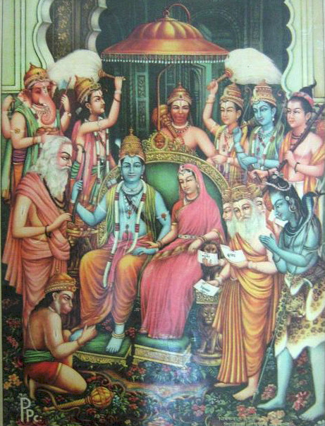 rama and sita. File:Rama-Sita coronation.jpg