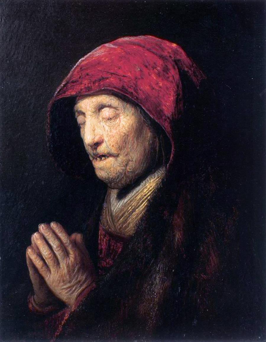 filerembrandt old woman praying wga19161jpg