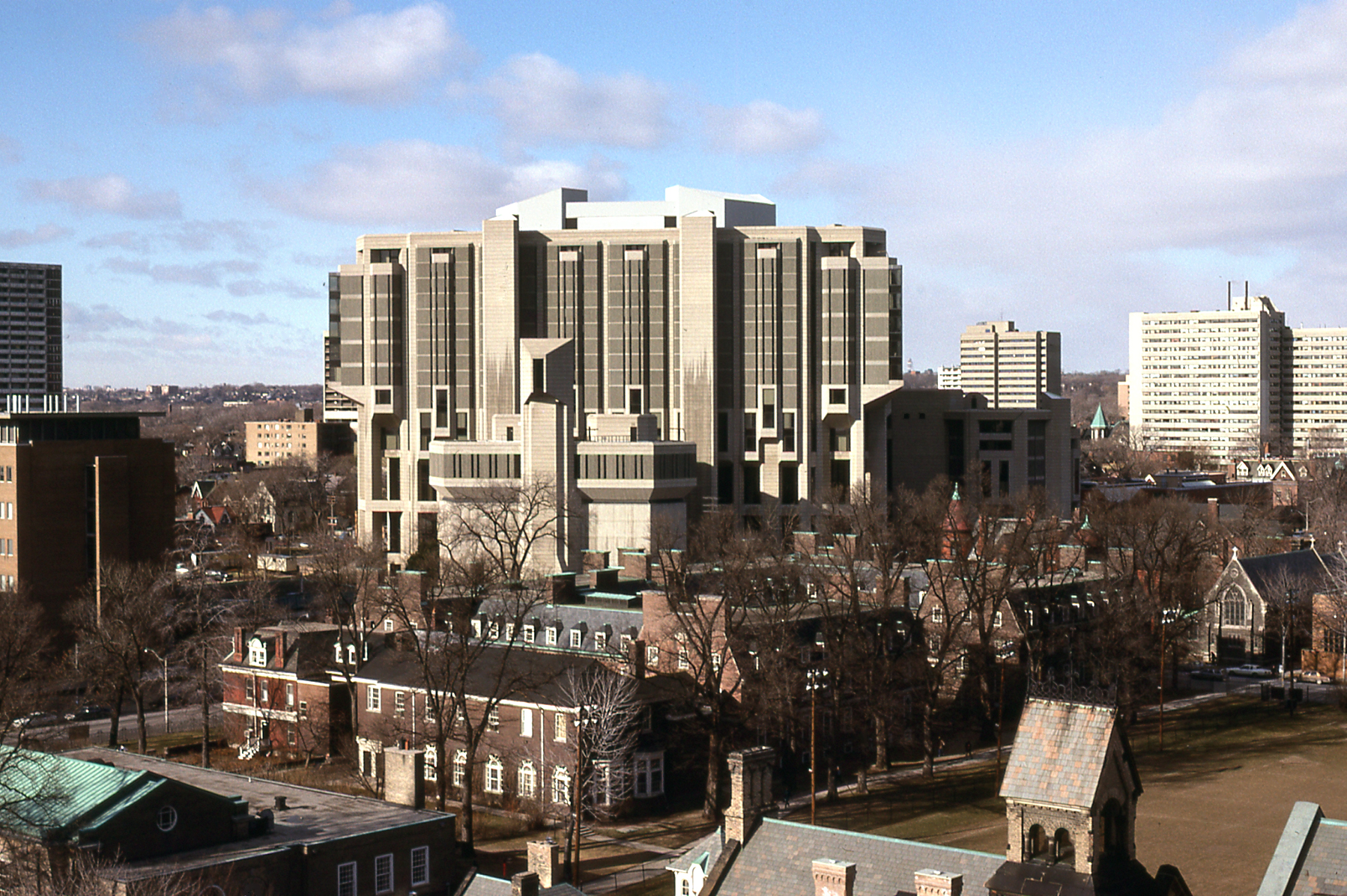 File:Robarts Library viewed from University College Tower, University of Toronto, 1987 -