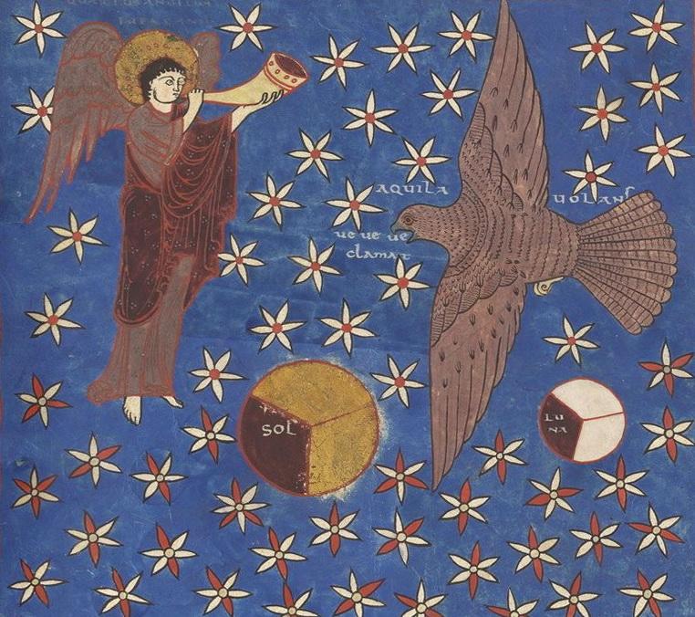 [Image: Saint-Sever_Beatus_f._141r_-_Fourth_trumpet_-_crop.jpg]