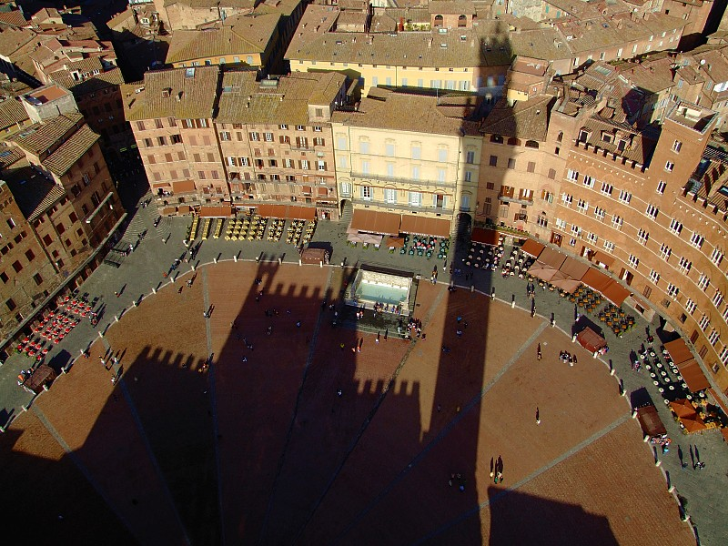 Piazza del Campo, Il Campo, seen from the top of Torre del Mangia