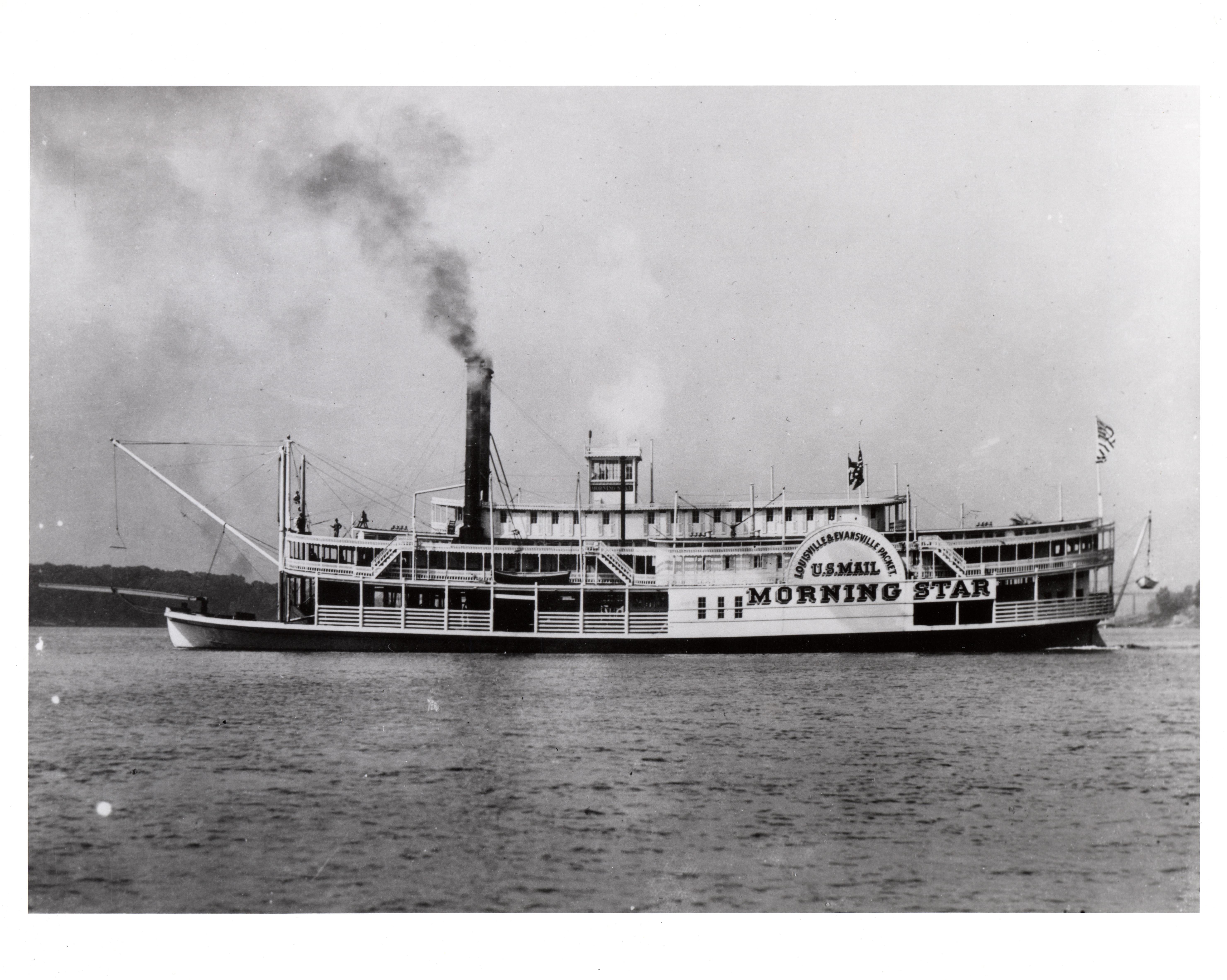 Description steamboat morning star 1858