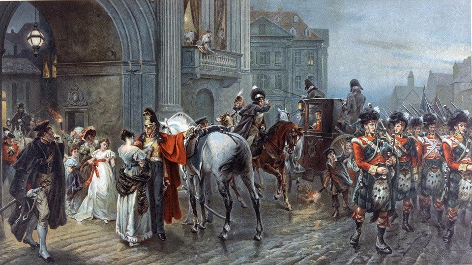 Вызван в Ватерлоо, Брюссель, на рассвете 16 июня 1815 года Робертом Александром Хиллингфордом (1898).jpg