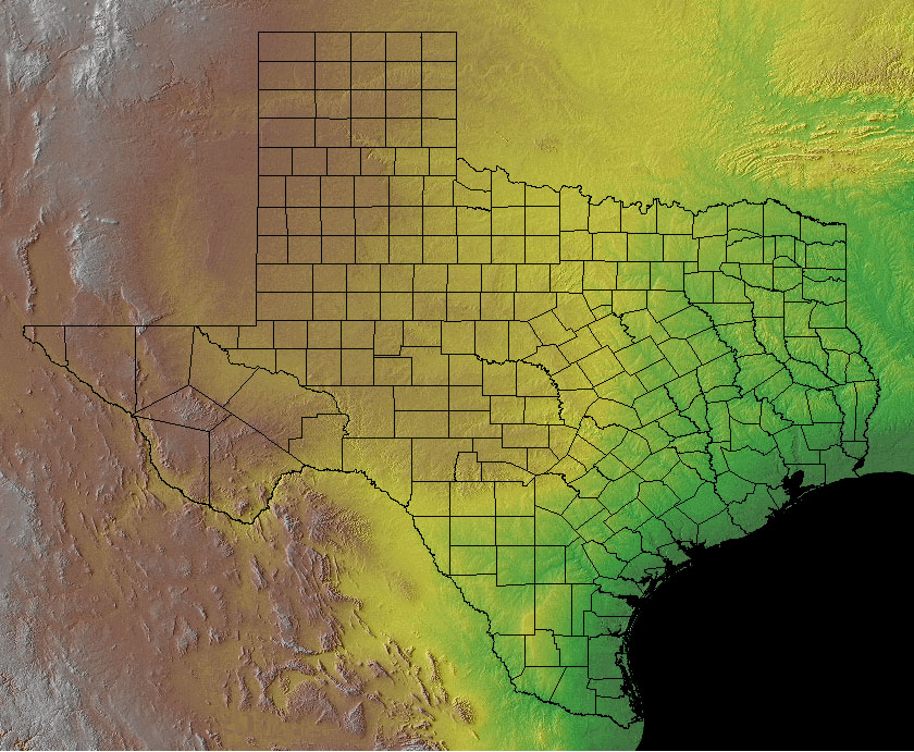 FileTexas Topographicjpg Wikimedia Commons - Topographical map of texas
