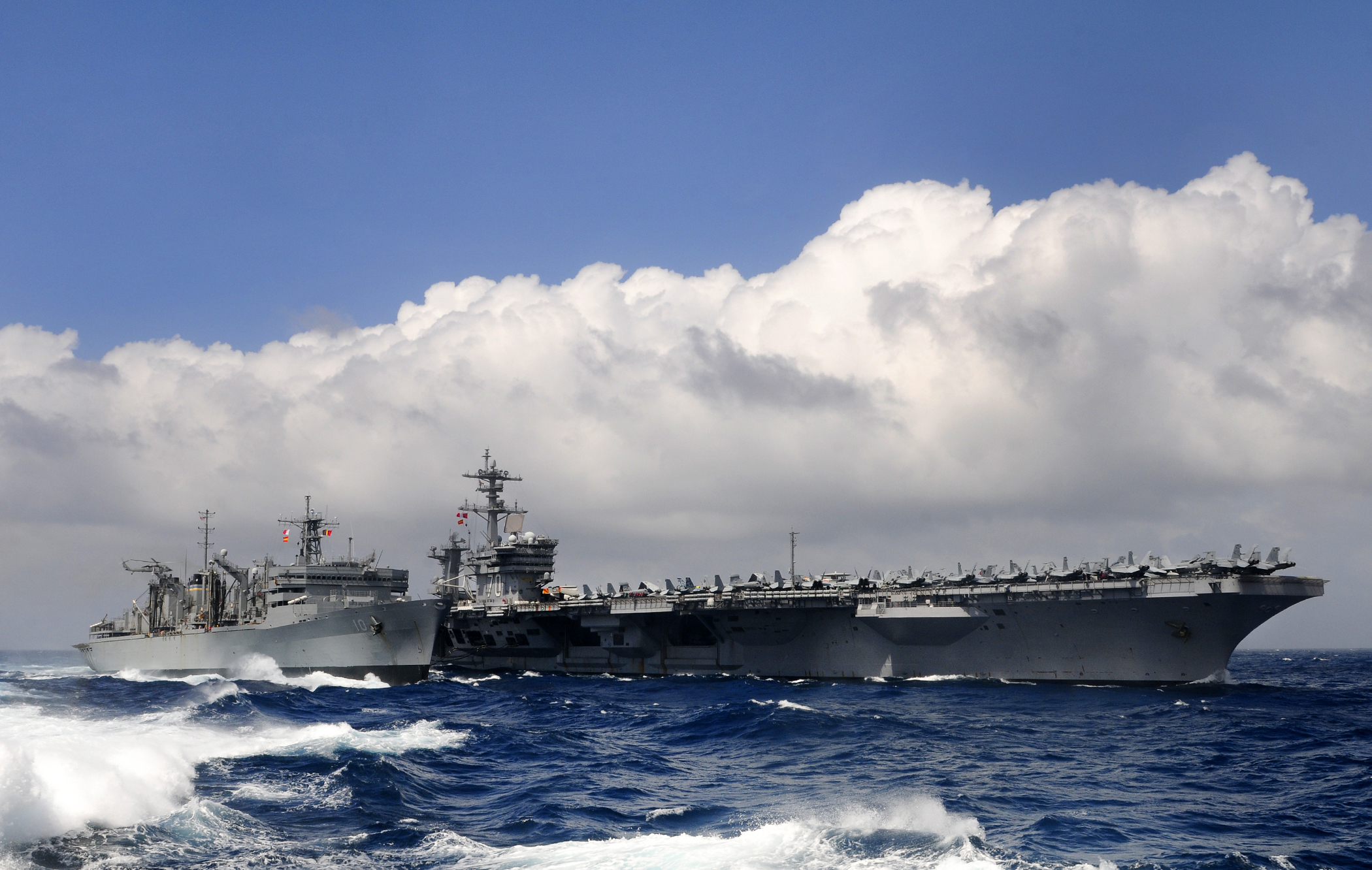 Aircraft carrier uss carl vinson cvn 70 and the military sealift