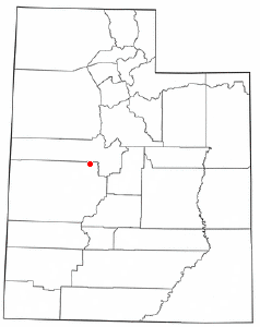 Location of Lynndyl, Utah