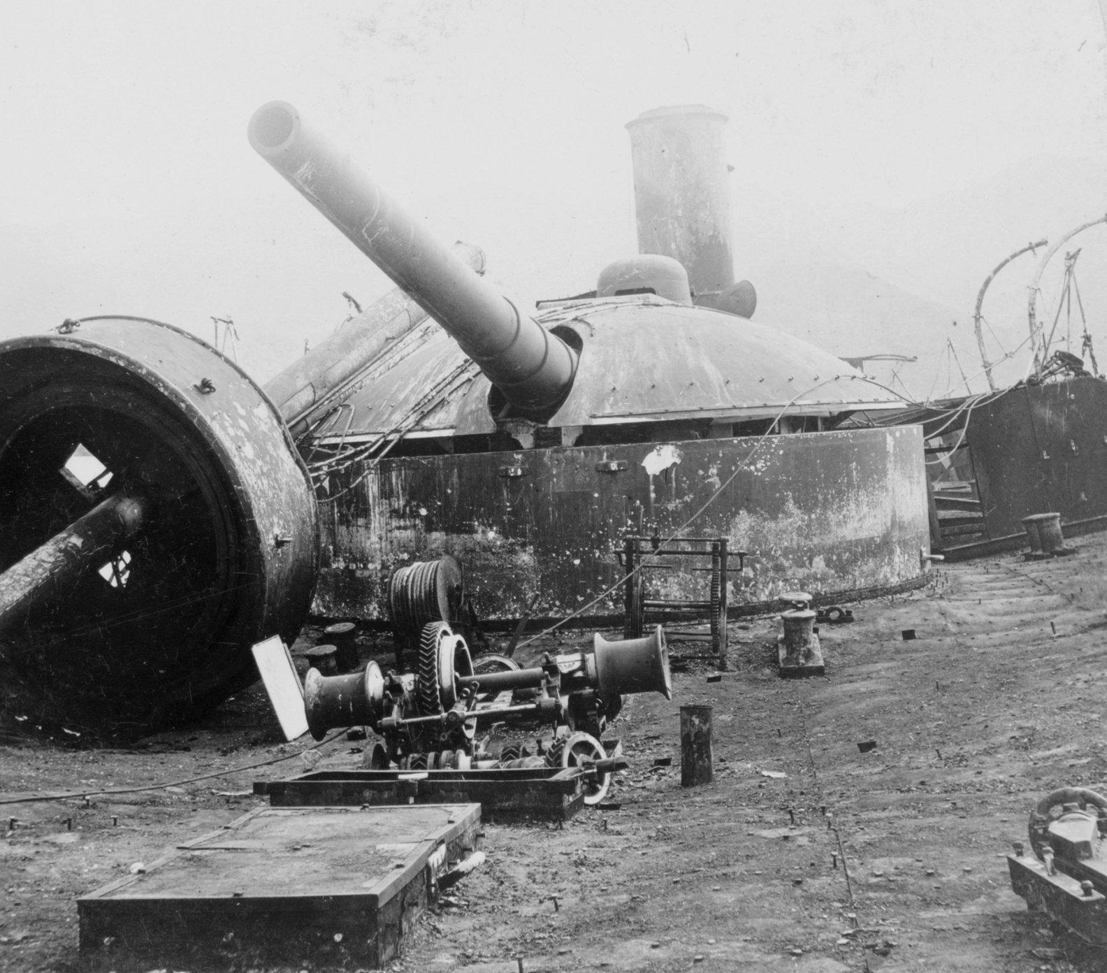 Naufragio del Vizcaya en la Batalla de Santiago de Cuba