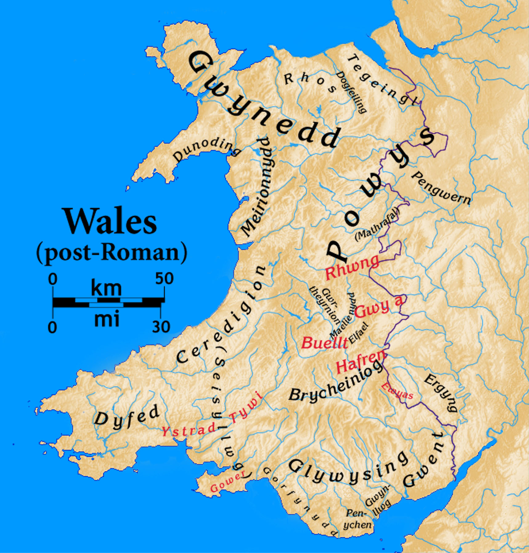 River Map Wales