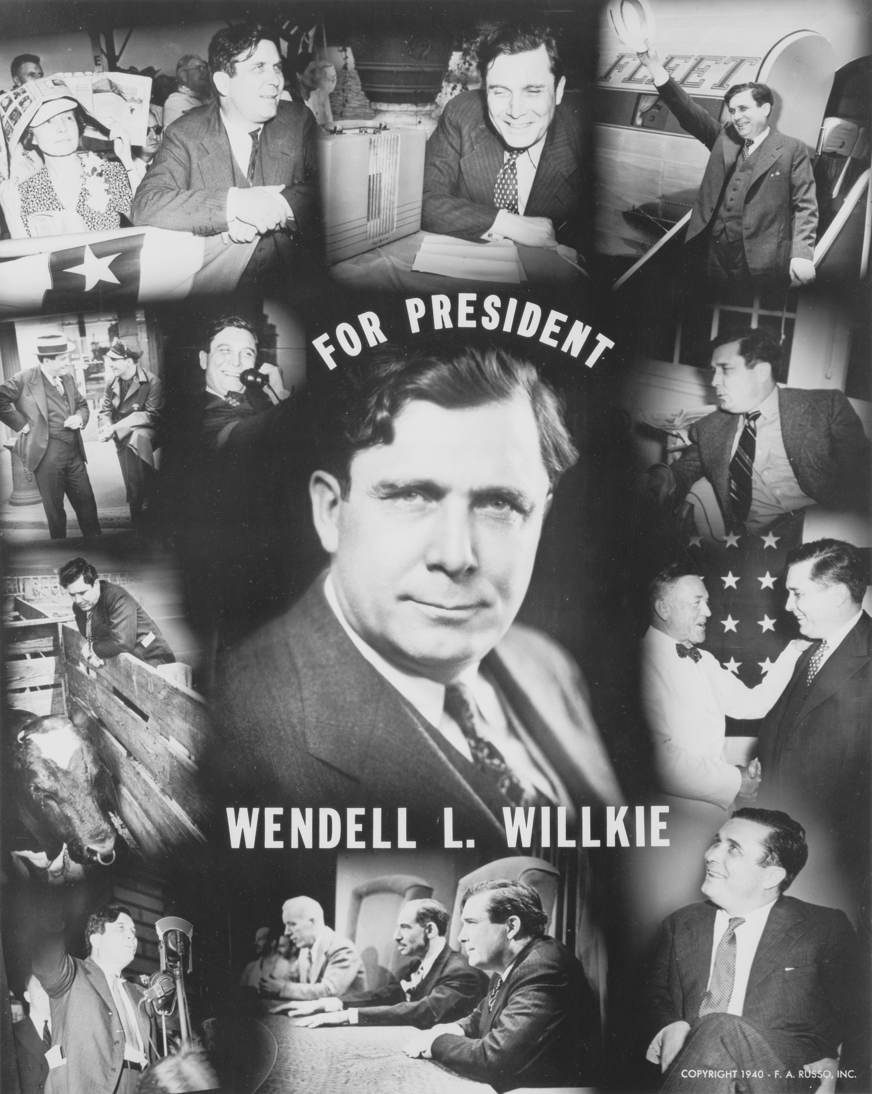 Wendell Wilkie 1940 Political Poster