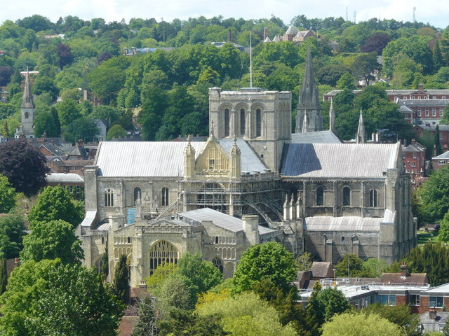 Winchester Cathedral From St.Giles's Hill - geograph.org.uk - 1313873