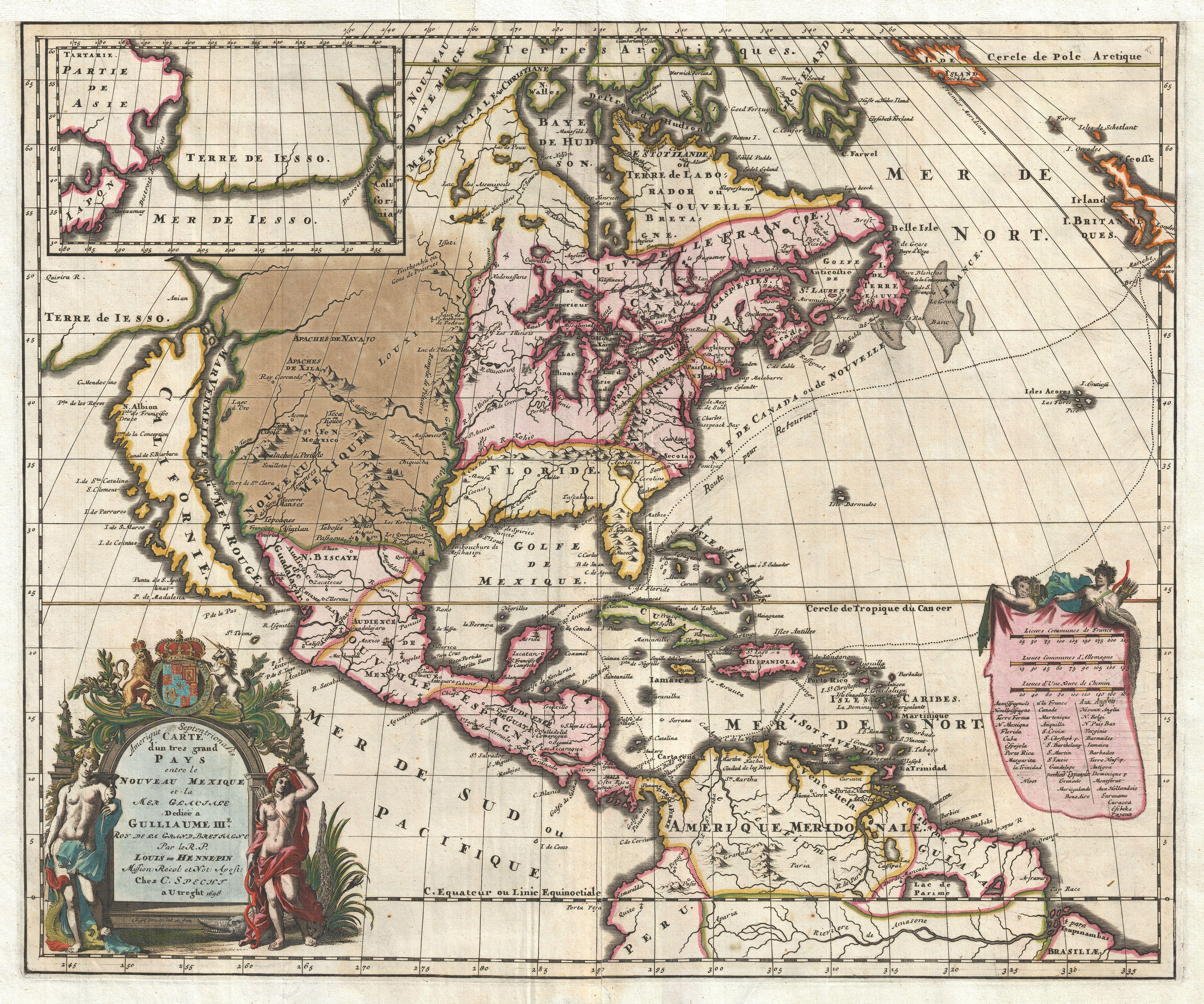 File:1698 Louis Hennepin Map of North America - Geographicus -  NorthAmerica-hennepin-
