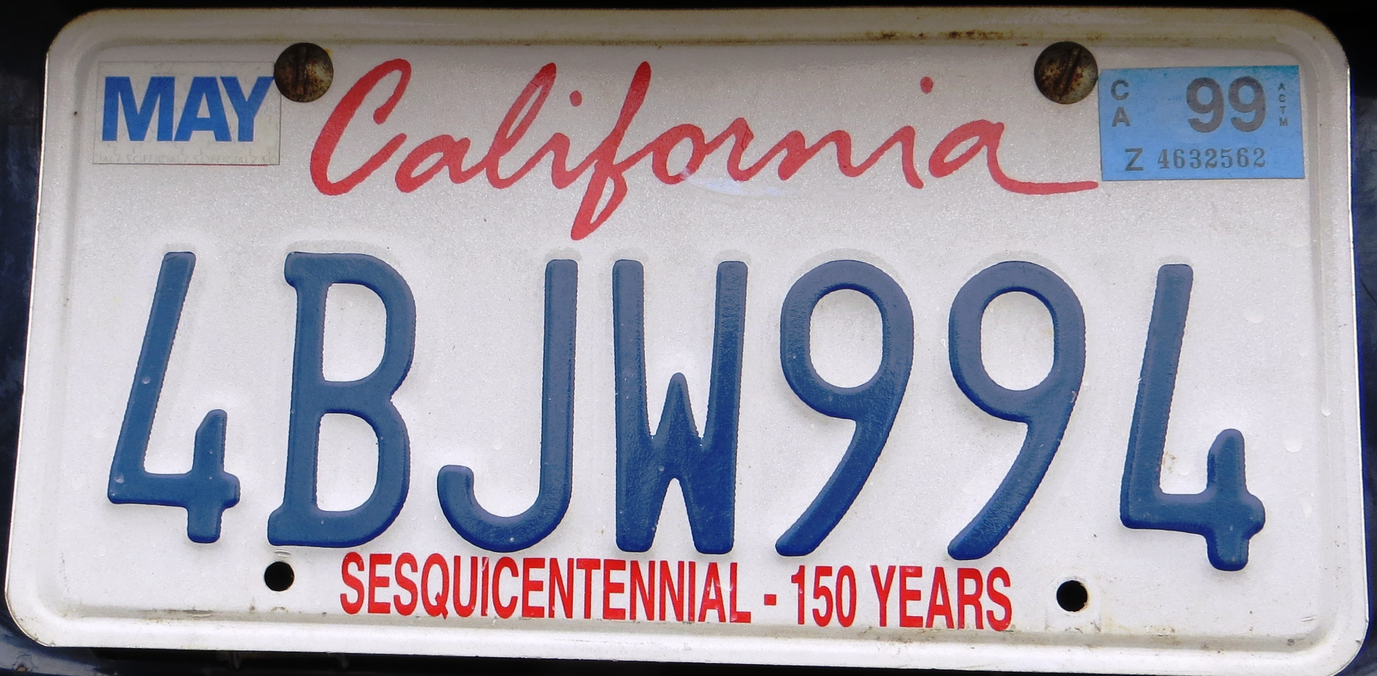 file 1998 california license plate wikimedia commons. Black Bedroom Furniture Sets. Home Design Ideas