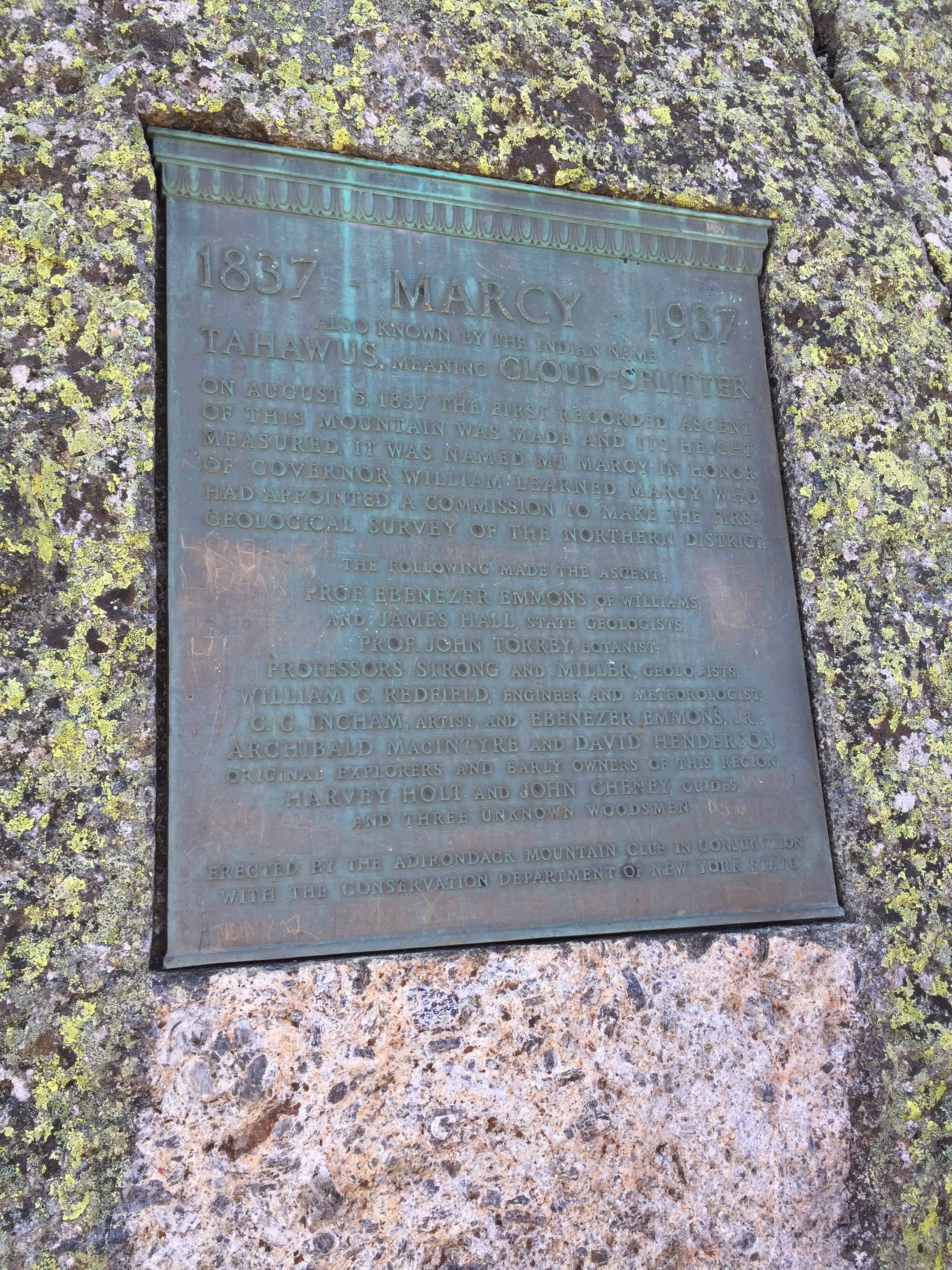 New york essex county keene - File 2016 09 04 12 38 34 Historical Plaque On The Summmit Of