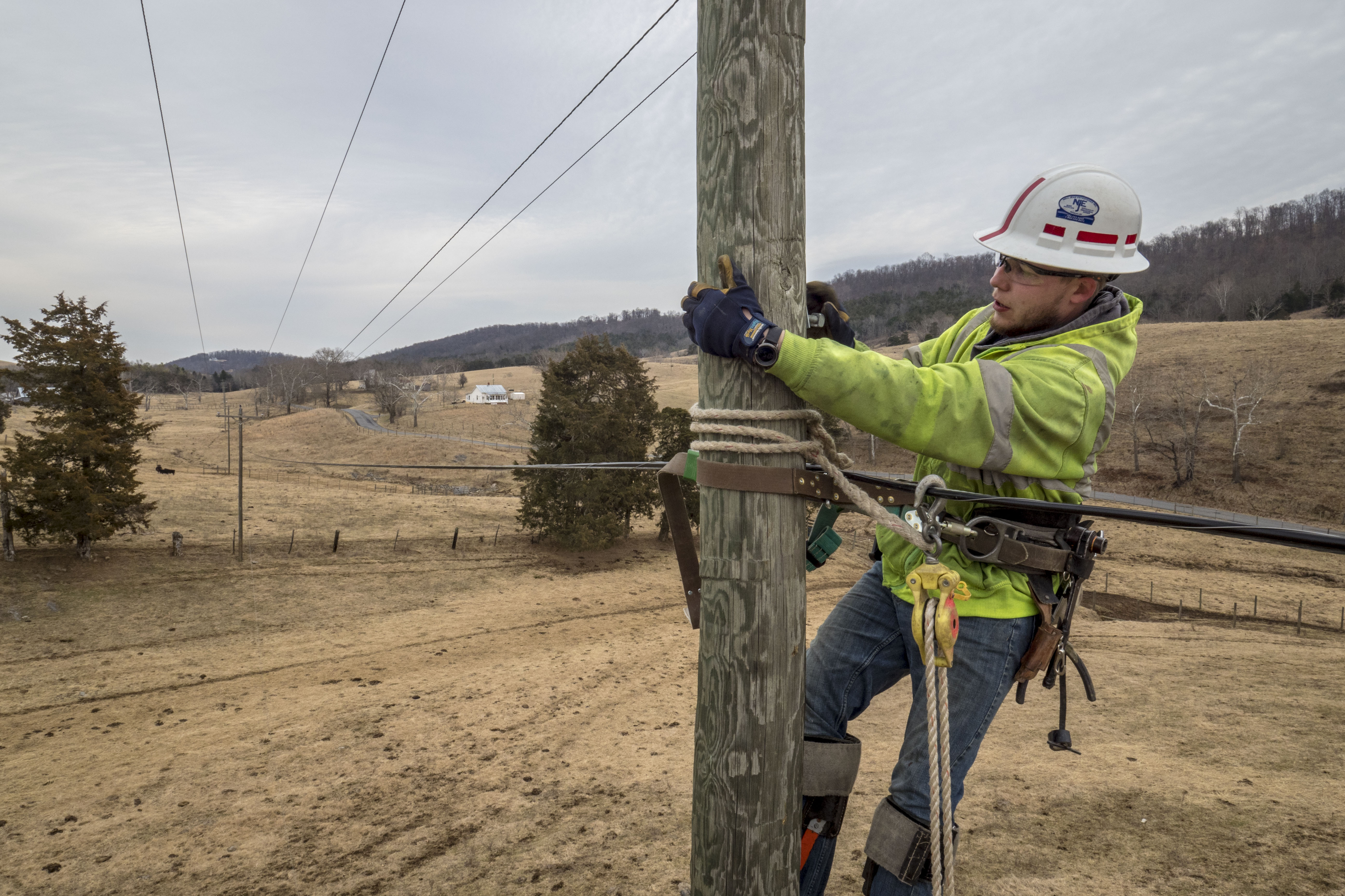 Electric Cooperative leads the way in the Lexington, Va. area installing fiber optic cables to the existing electrical grid, which will bring dependable high-speed