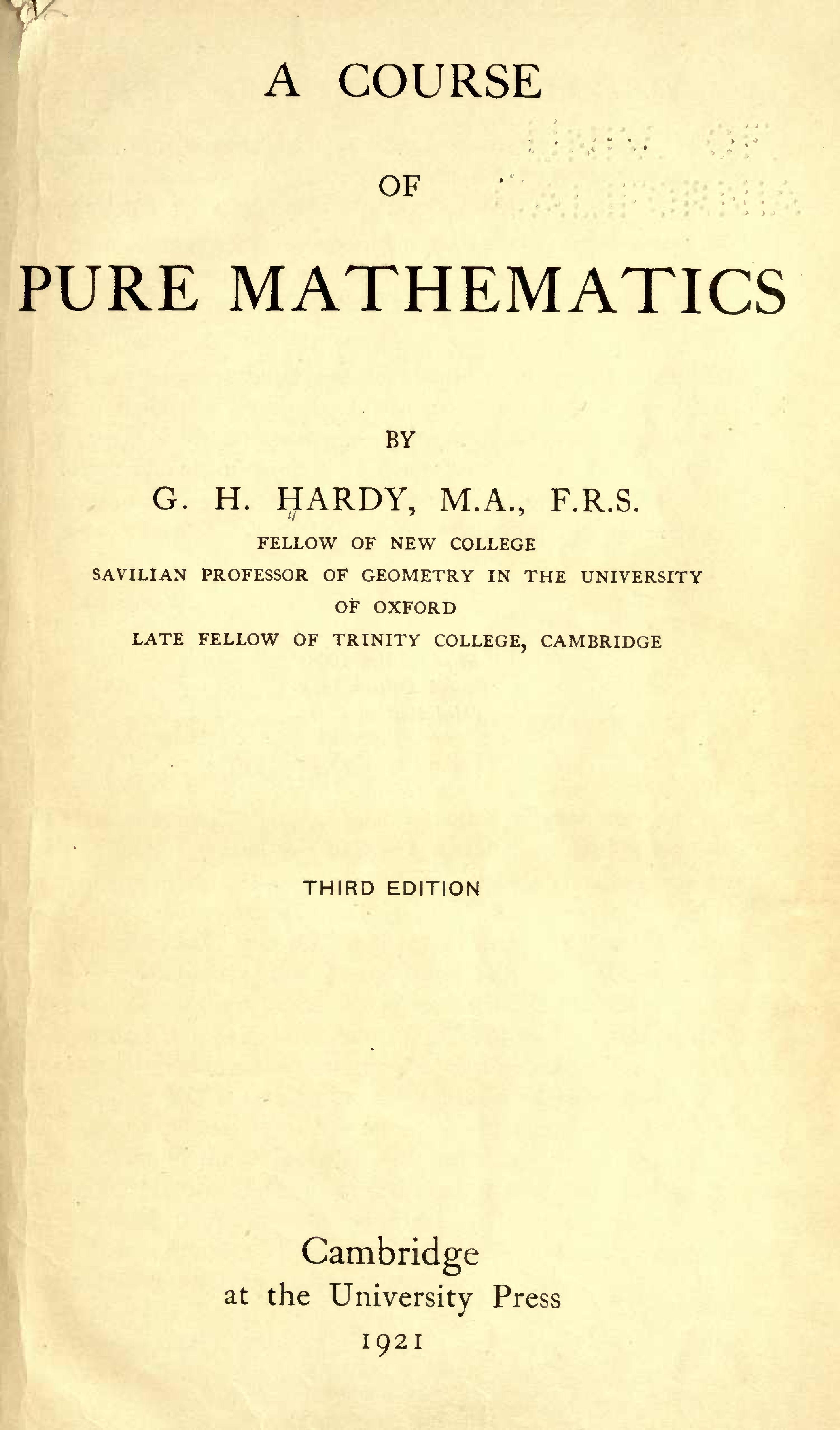 University Mathematics Book
