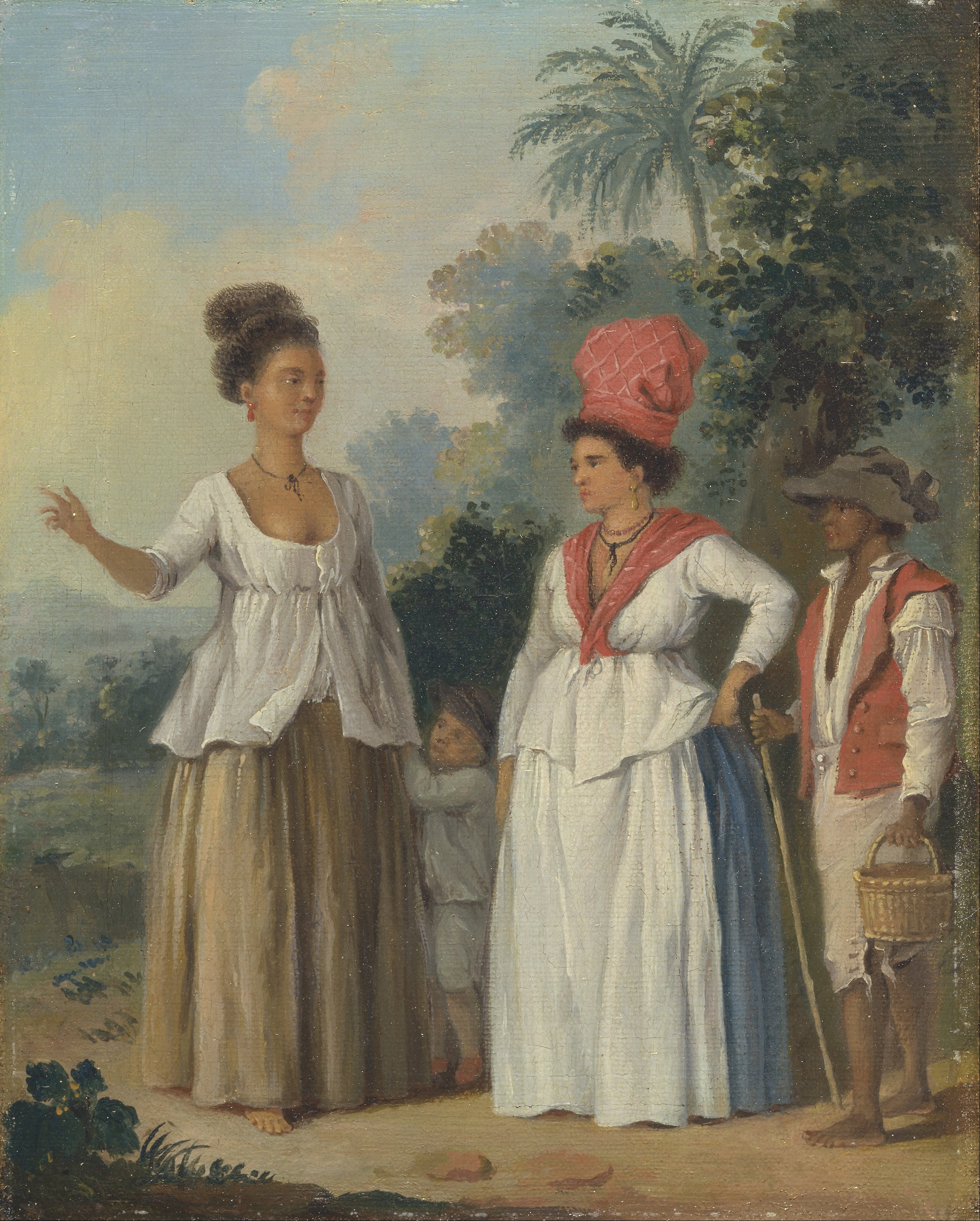 File:Agostino Brunias - West Indian Women of Color, with a ...