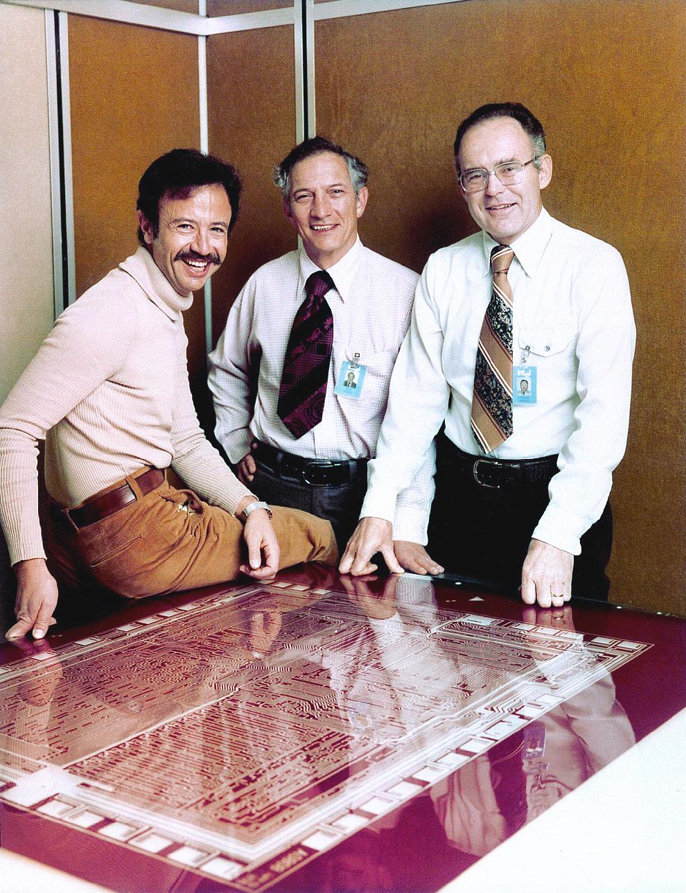 Andy Grove, Robert Noyce and Gordon Moore (1978)