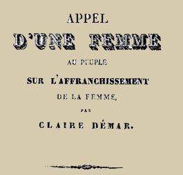 Claire Démar French journalist