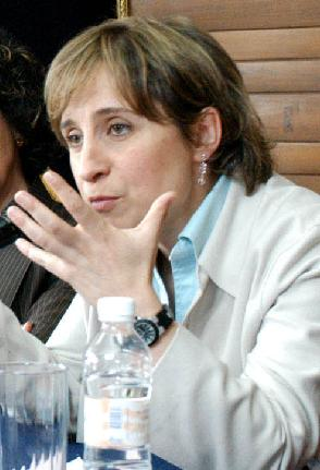 English: Carmen Aristegui.