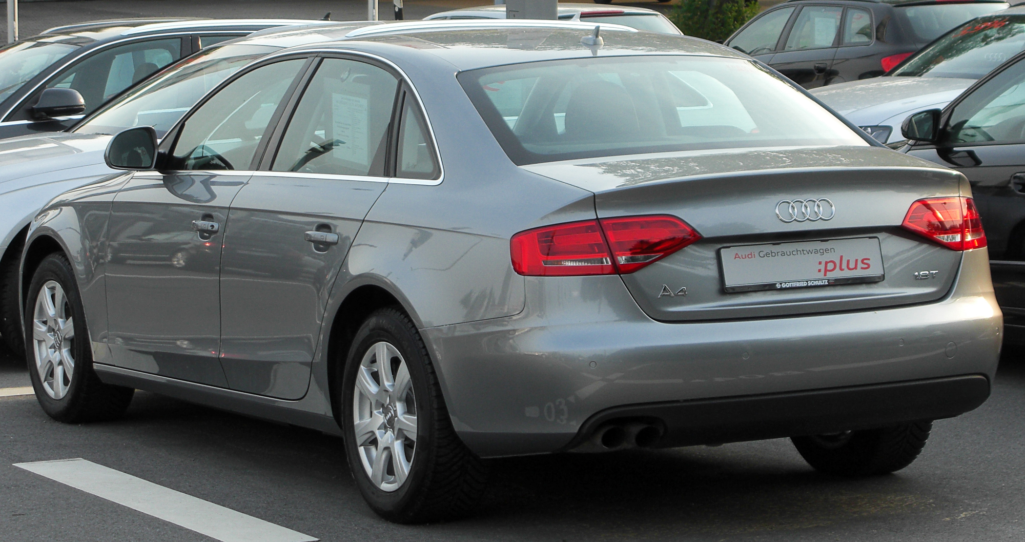 File Audi A4 B8 1 8 Tfsi Rear 20100622 Jpg Wikimedia Commons