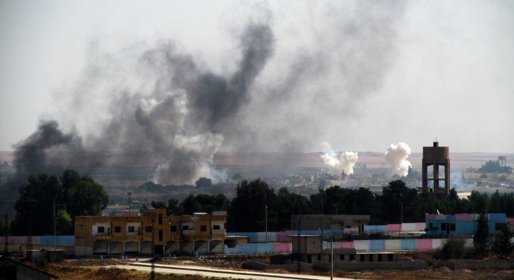 Barış Pınarı Hârekatı'nda Tel Abyad bombalanıyor.jpg