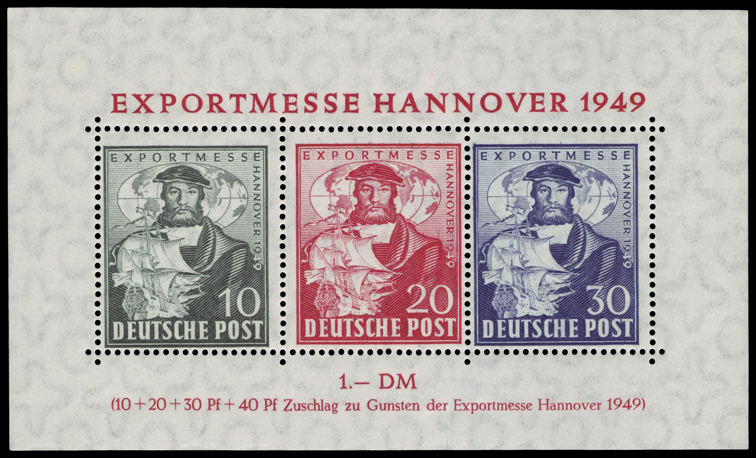 Briefmarken Ausgaben Der Amerikanischen Und Britischen Zone In