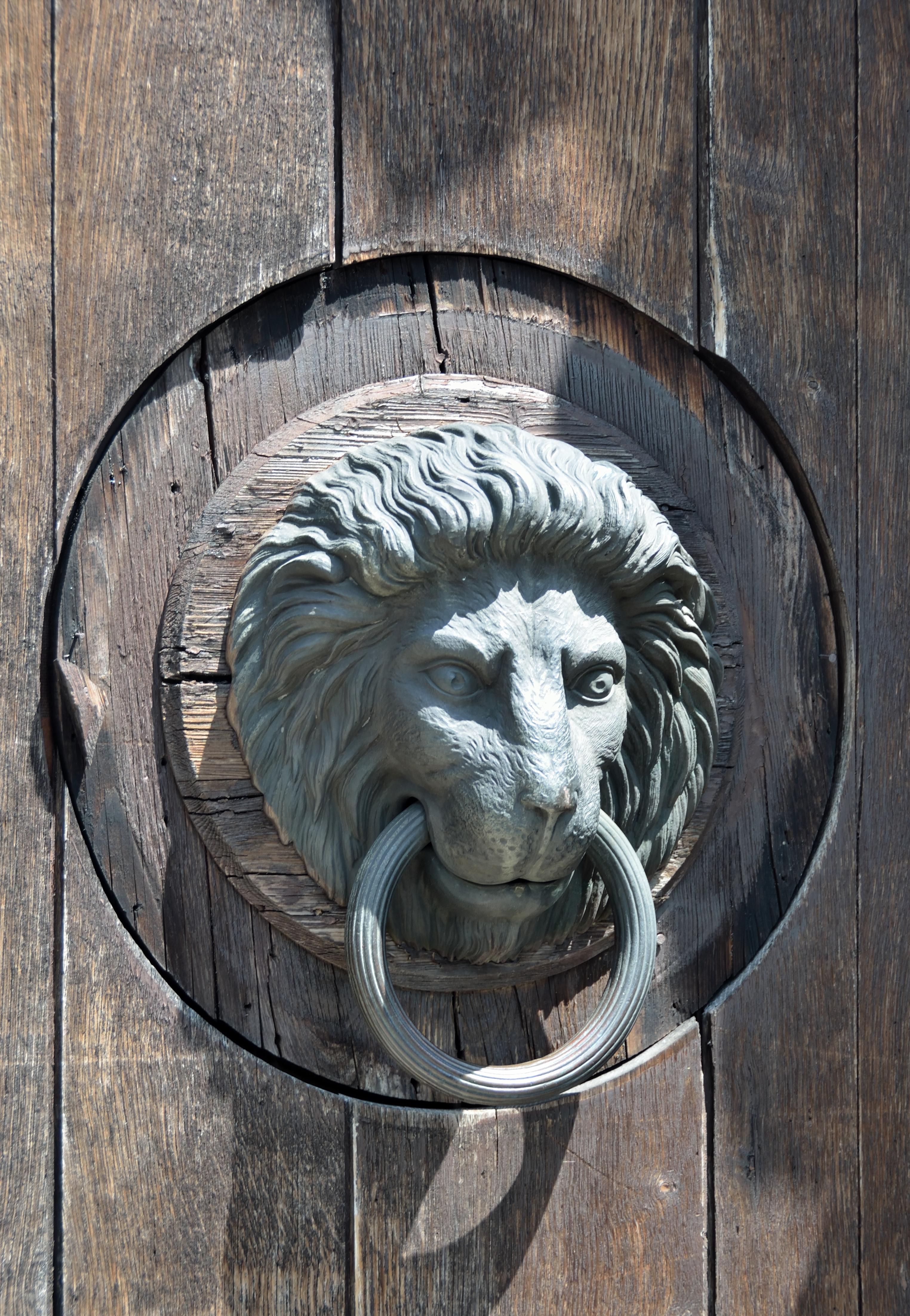 File burg neulengbach lion door wikimedia commons - Lion face door knocker ...