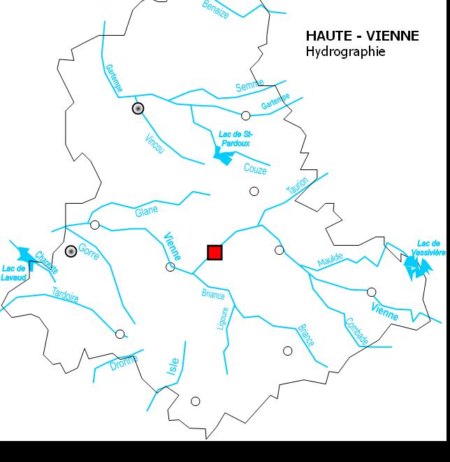 Liste des cours d 39 eau de la haute vienne wikip dia for Haute vienne carte