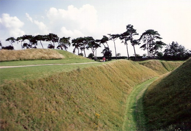 Castle moat and earthworks, Castle Rising - geograph.org.uk - 317633