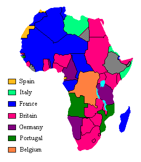 Map Of Africa During Imperialism.Scramble For Africa Wikipedia