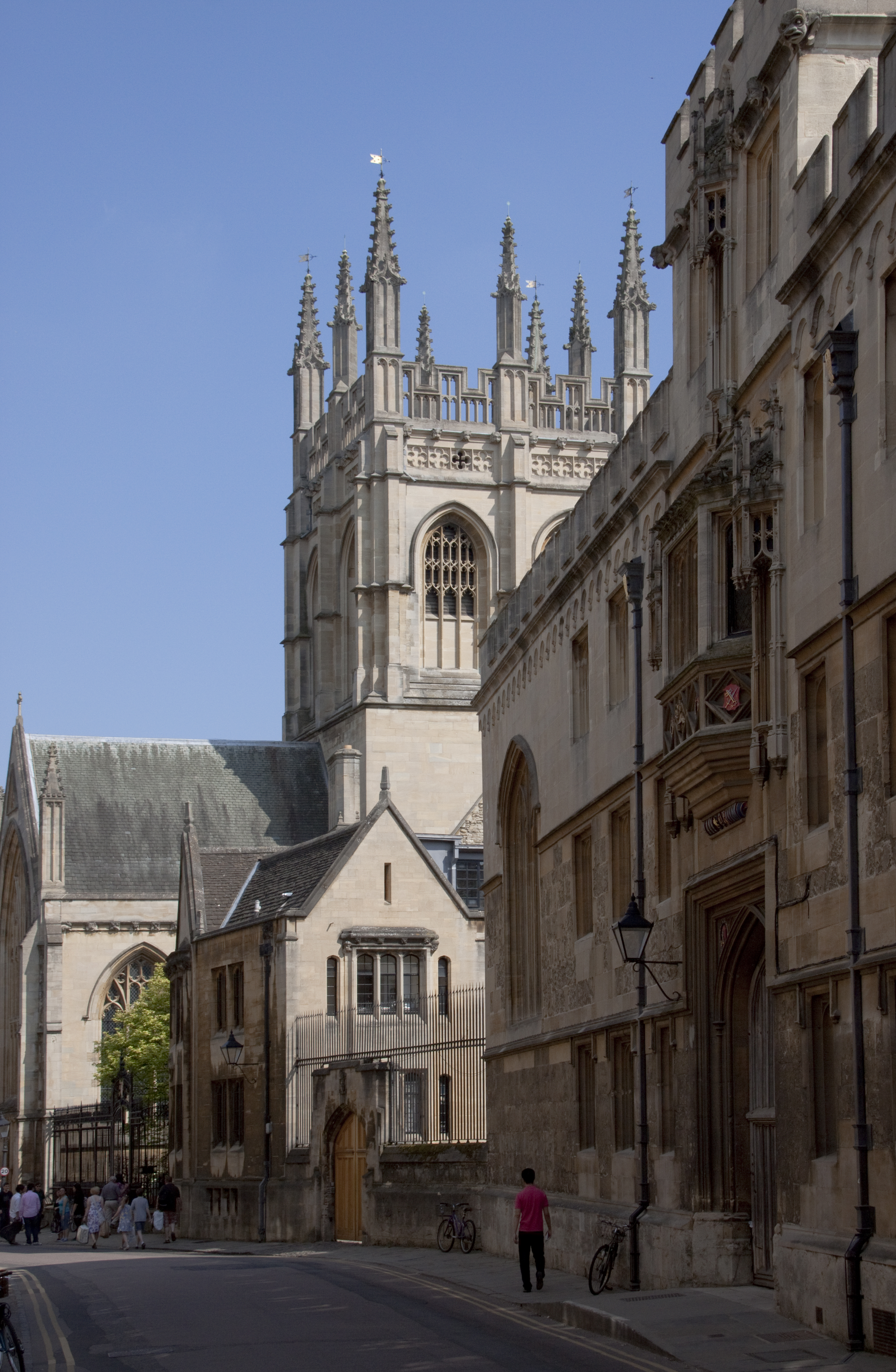 Image of Corpus Christi College, Oxford, as seen from Merton Street