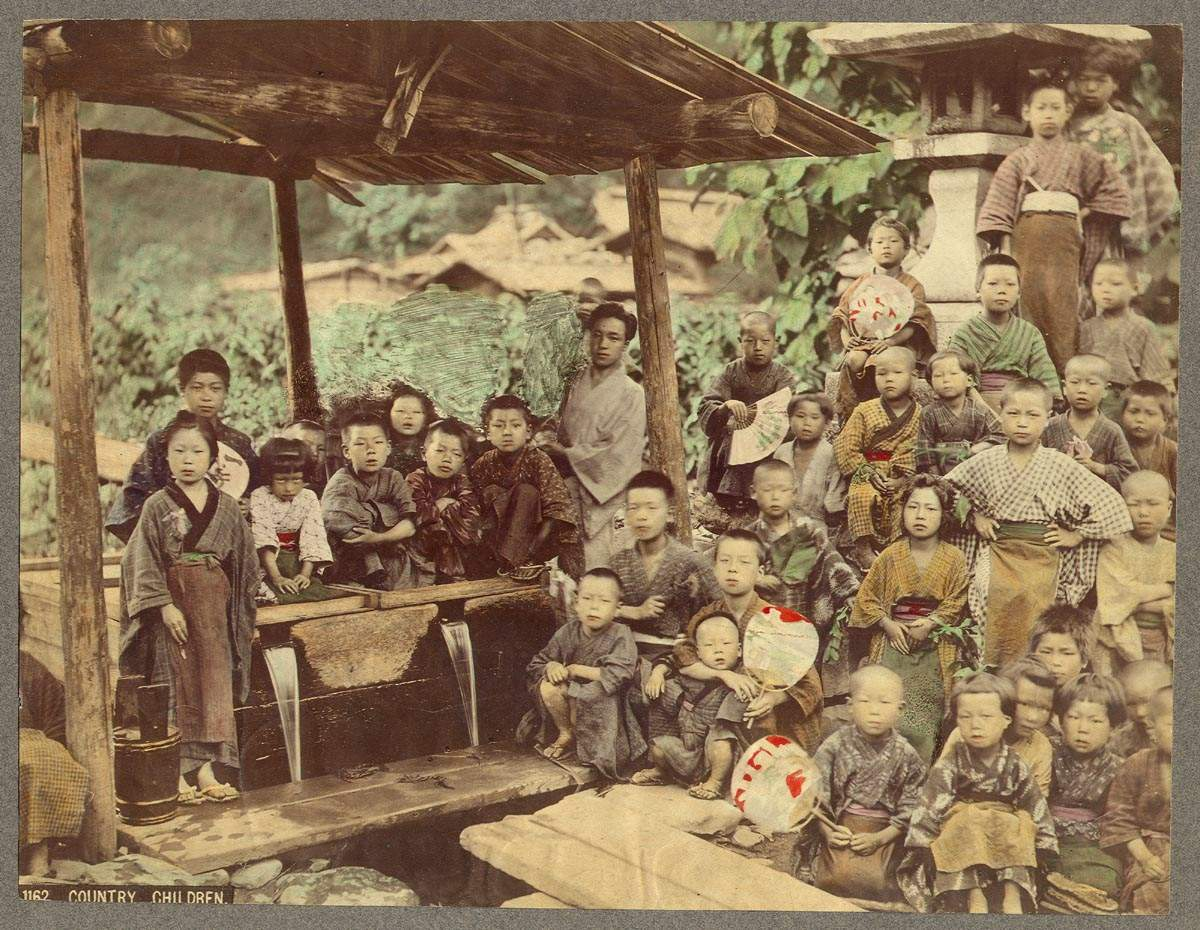 Country_Children_Kusakabe_Kimbei