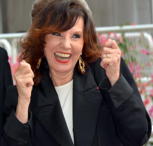 Denise Fabre au festival de Cannes.   Photo : Getty Images