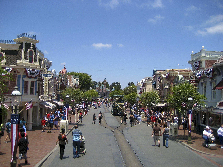 Main Street, USA as seen on July 4, 2010