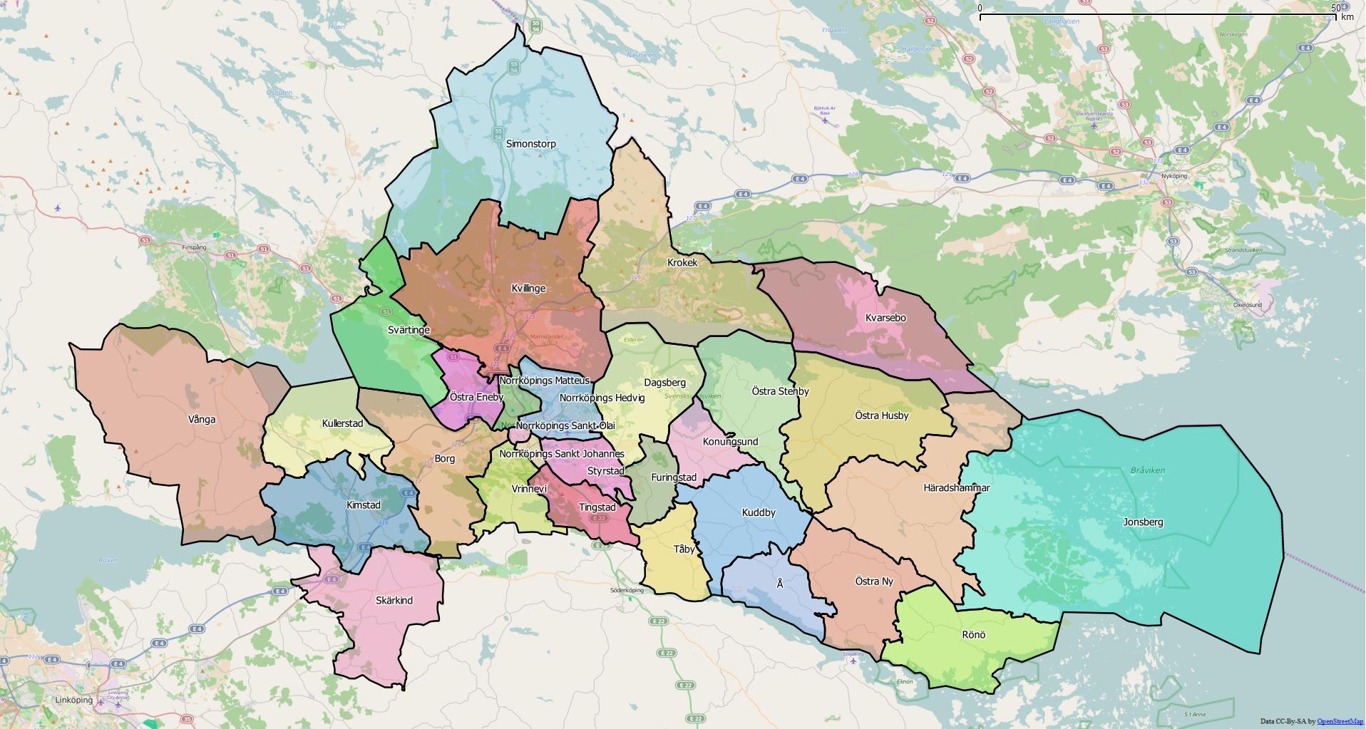 norrköping kommun karta