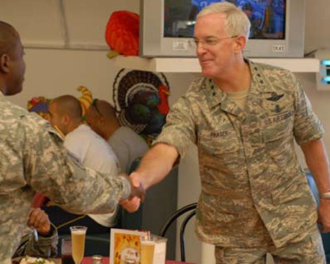 File:Douglas Fraser, USAF, Shares Thanksgiving In The