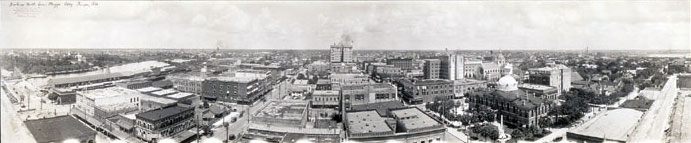 Panorama of Downtown Tampa taken in 1913