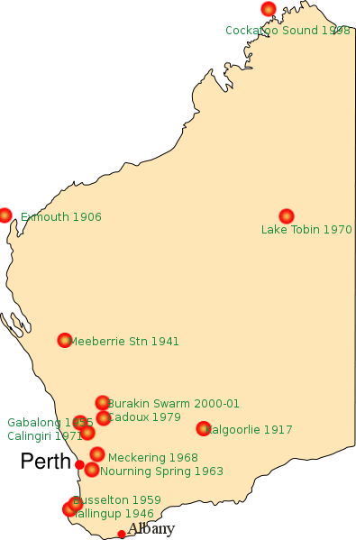 Locations Of Significant Earthquakes