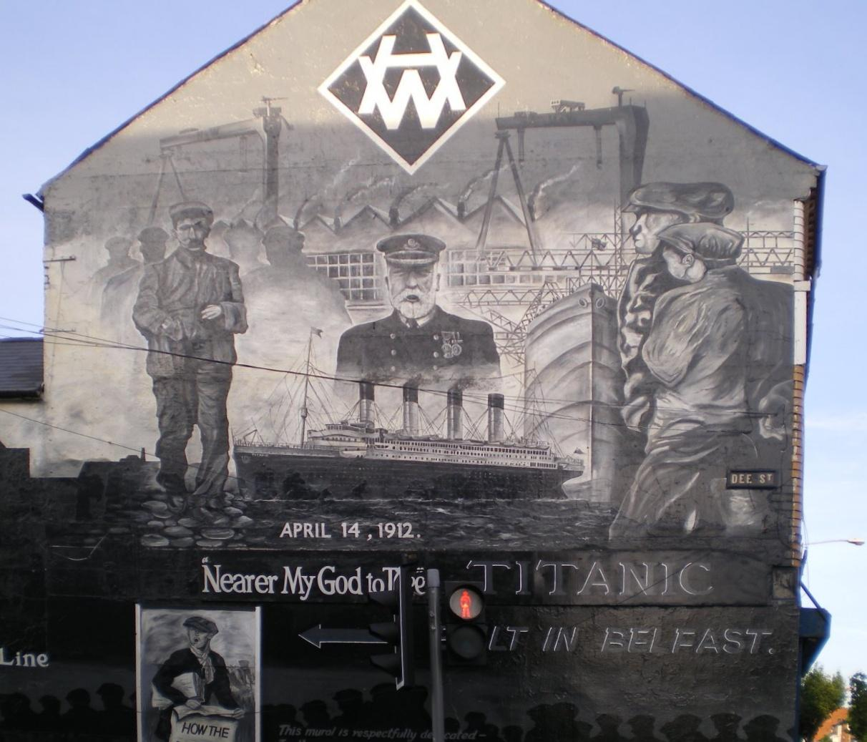 File east belfast murals titanic dee for Mural in belfast