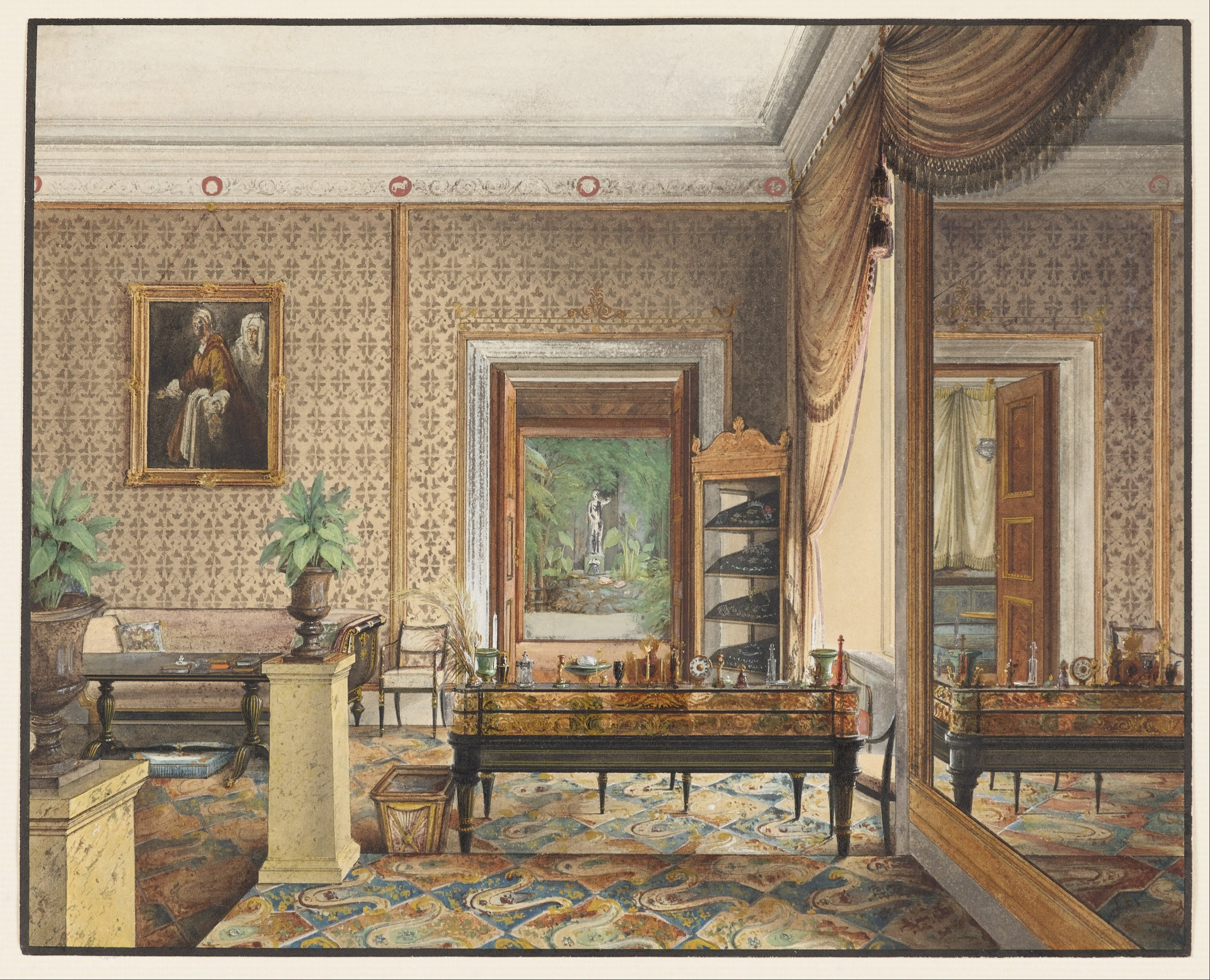 Gärtner file eduard gaertner the study of prince karl of prussia project jpg wikimedia