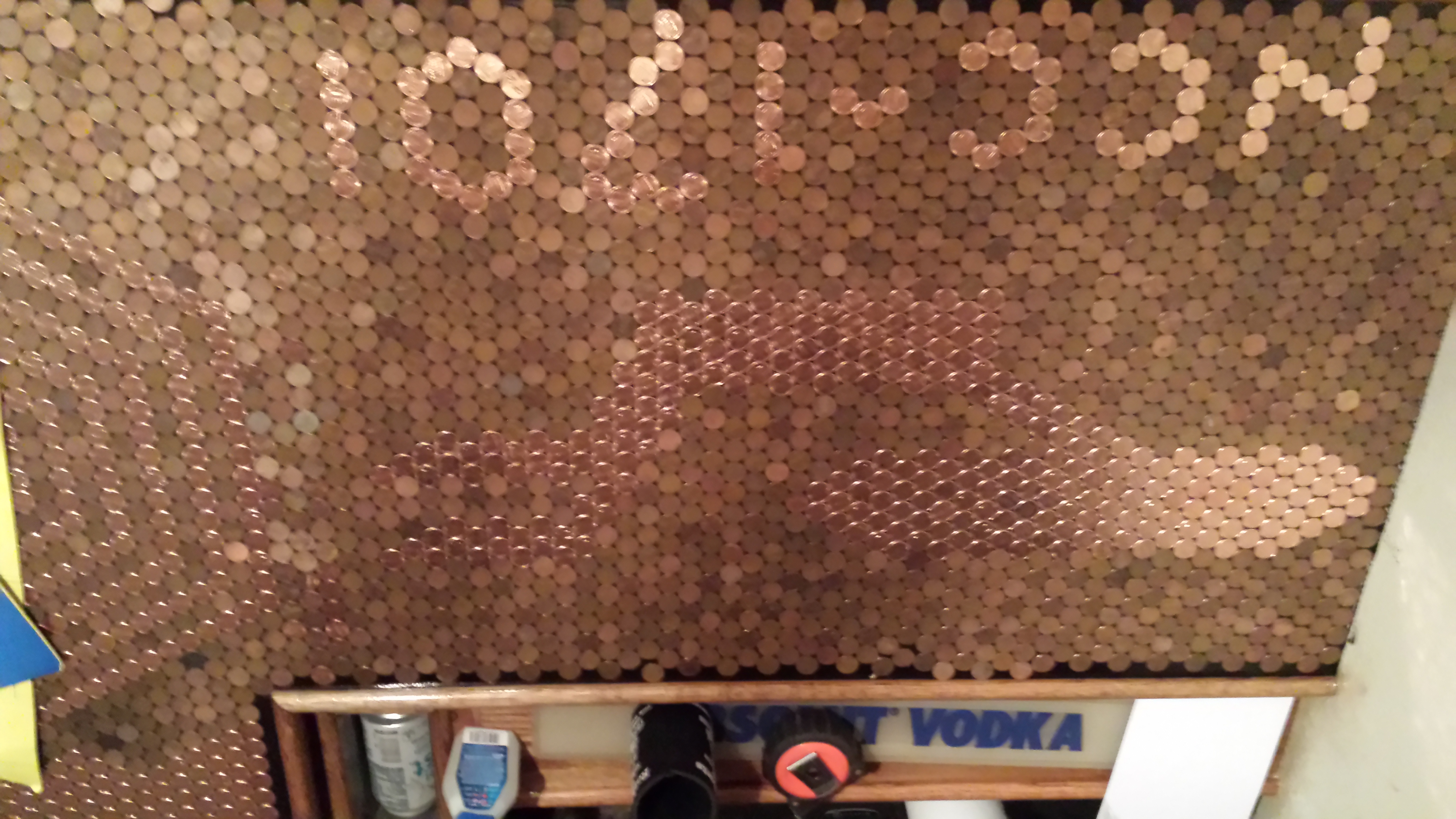 how to make a penny mosaic
